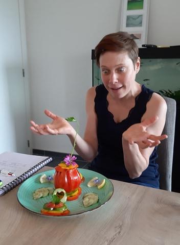 photo prise d'un atelier de cuisine therapie